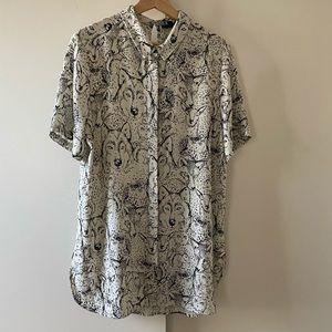 Topshop long button down shirt